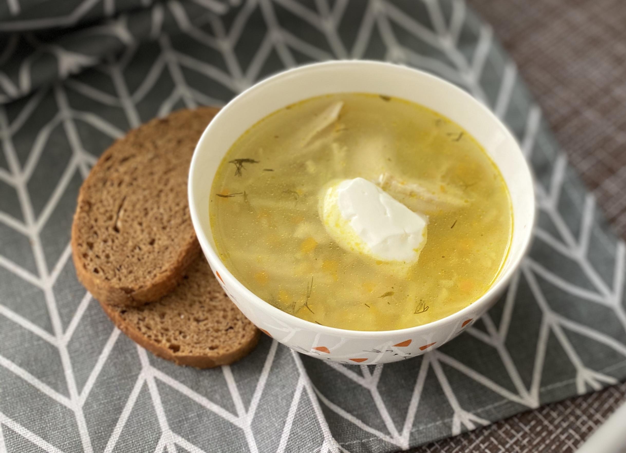 """Куриный суп с пастой """"Птитим"""""""